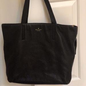 Black Kate Spade Leather Tote Bag